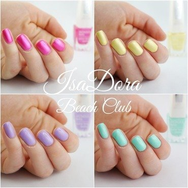 IsaDora Beach Club nail art by Ann-Kristin