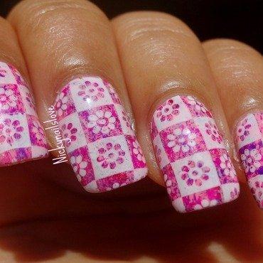 Block Print nail art by Nicky
