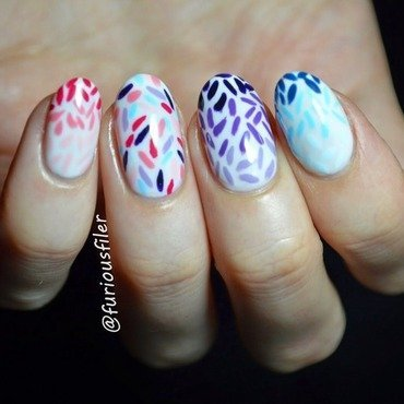 Confetti nail art by Furious Filer