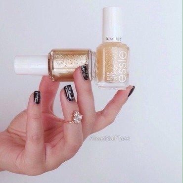 Goldfinger nail art by Alina E.