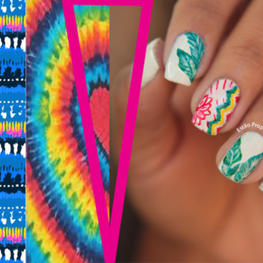Nail Folk trend nail art by Siça Ramos