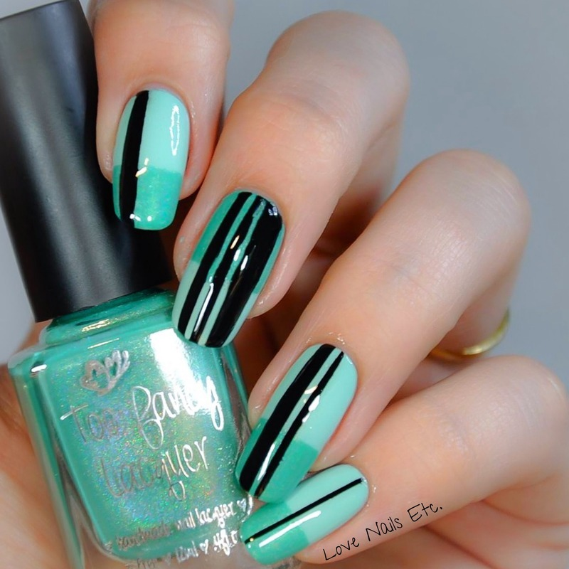 Minty Moment nail art by Love Nails Etc