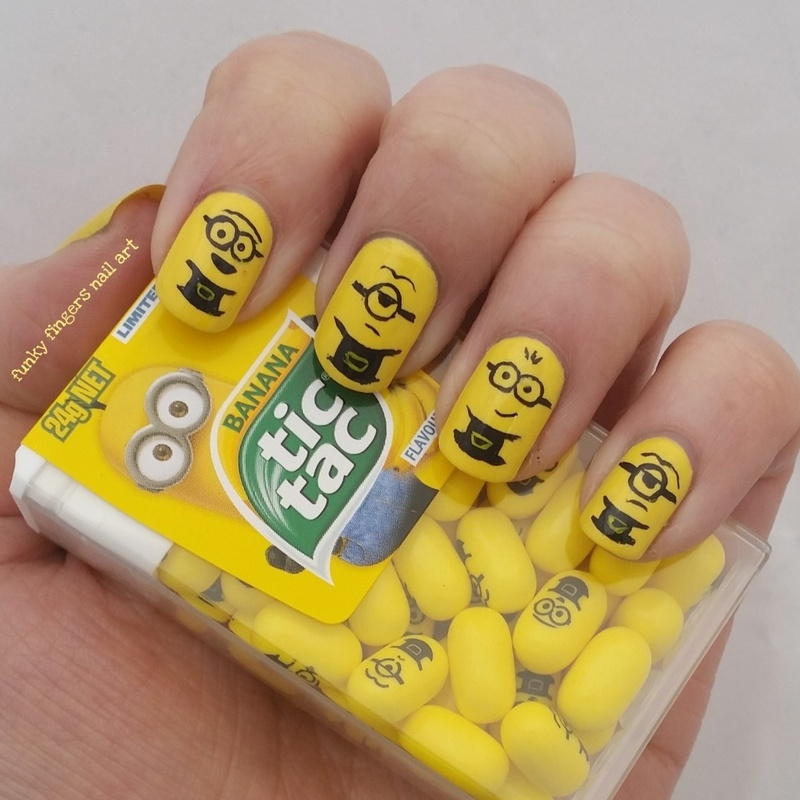Minion tictacs nail art by funky fingers nail art nailpolis minion tictacs nail art by funky fingers nail art prinsesfo Images