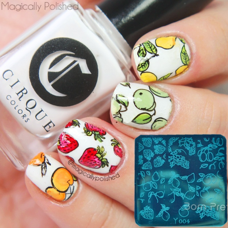 Fancy Fruit Stamping Nails nail art by Born Pretty