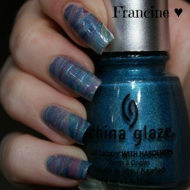 Daydreaming nail art by Francine