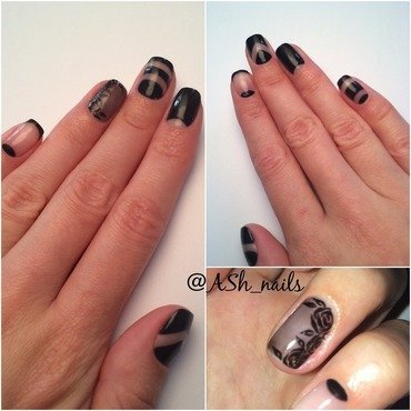 Negative space nailart nail art by Anna Sh