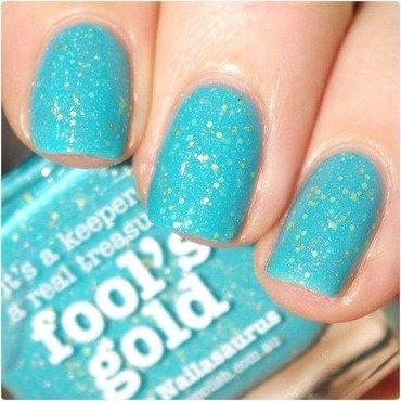 piCture pOlish Fool's Gold Swatch by Bulleuw