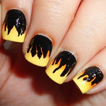 This Girl is on Fire!! nail art by Melany Antelo