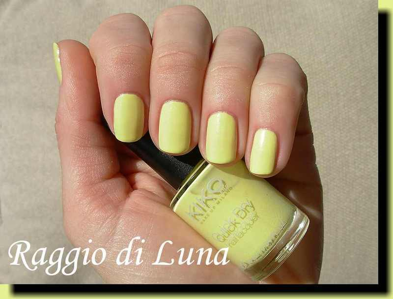 kiko quick dry n° 853 Pearly Light Yellow Swatch by Tanja