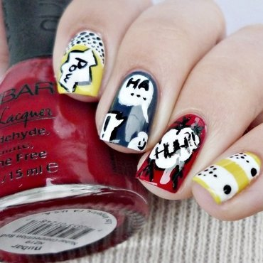 Comics nail art by Romana