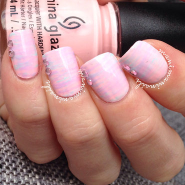 Cotton candy mani nail art by manimaninails