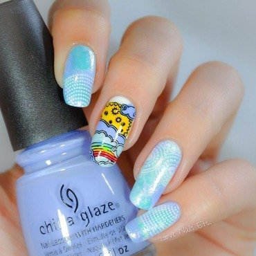 Over the Rainbow nail art by Love Nails Etc