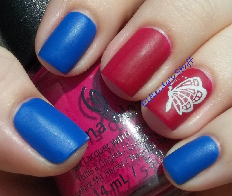 30DoCC- matte and stamped nail art by Jenette Maitland-Tomblin
