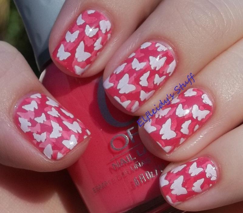 Stamped pond mani nail art by Jenette Maitland-Tomblin
