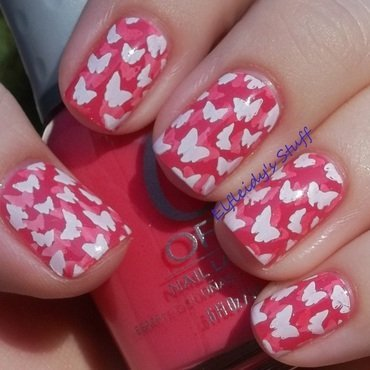 Stamped pond mani nail art by Jenette Maitland-Tomblin