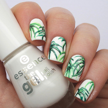 House of Hackney inspired Palmleaves nail art by nagelfuchs