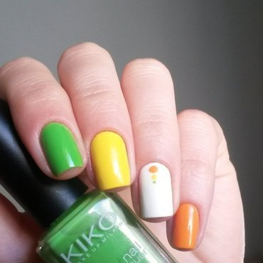 Citrus Mix nail art by marina