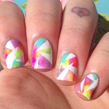 Tiedye  nail art by Talia  Louise
