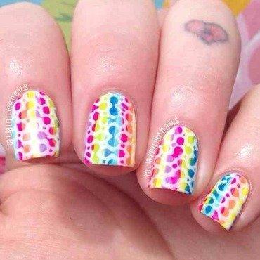 Rainbow print nails  nail art by Talia  Louise