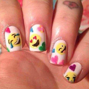 Emoji nail art  nail art by Talia  Louise