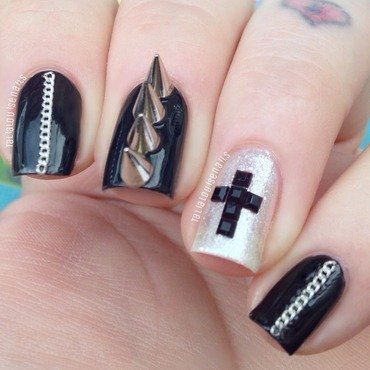 Punk nails nail art by Talia  Louise