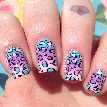 Ombré leopard print  nail art by Talia  Louise