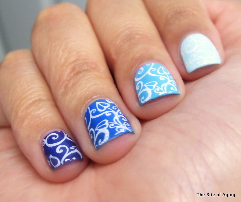Stamping Ombre Nail Art nail art by Monica