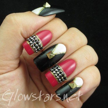 Elegant nails black white nmc black 054 1 thumb370f