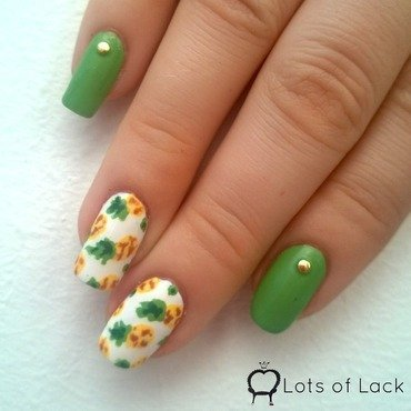 Pineapple Nails nail art by LotsOfLack