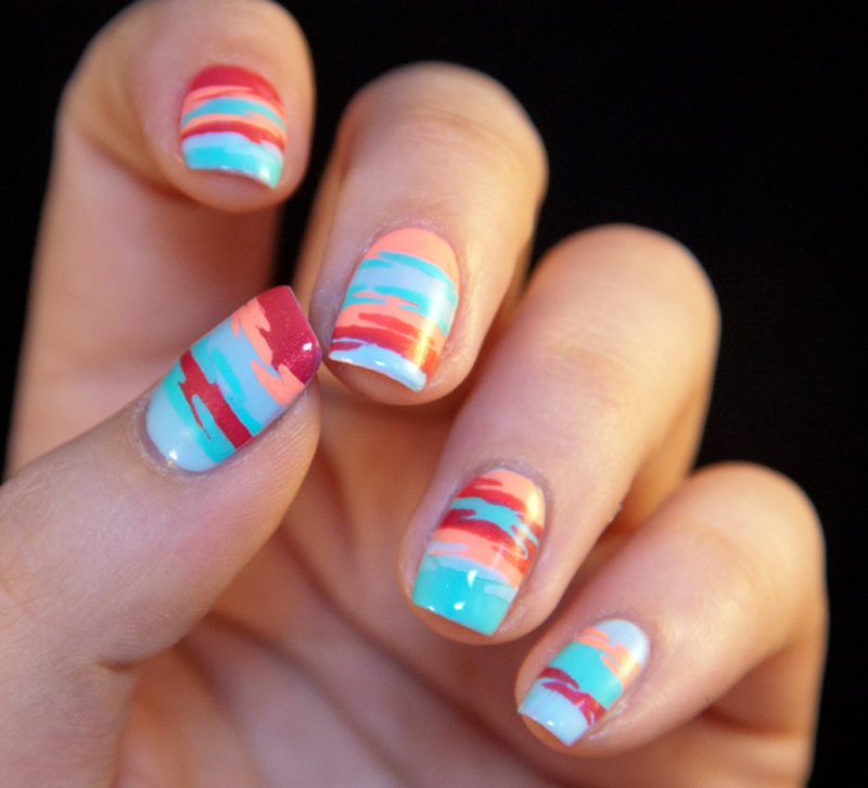 Summer dawn nail art by Chasing Shadows