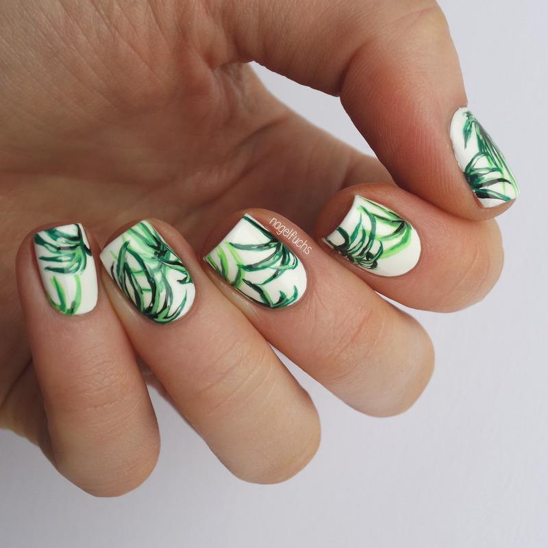 Palmleaf Nailart nail art by nagelfuchs