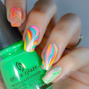 Candy neon nail art by Love Nails Etc