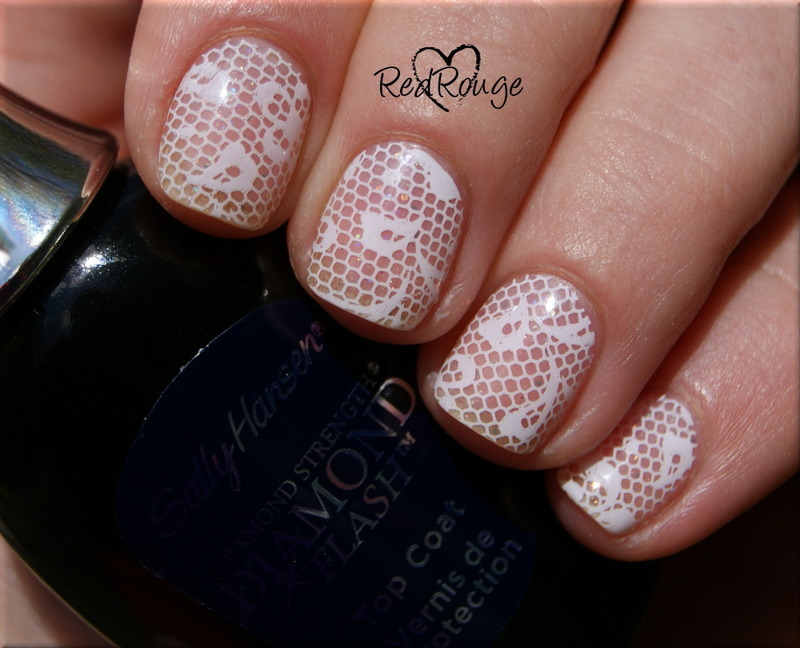 negative space nails - stamping nail art by RedRouge