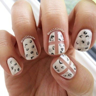 Negative Leopards nail art by Nailblazer