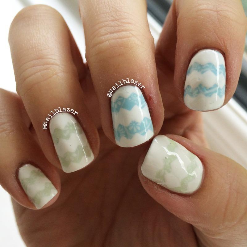 Spring Chevrons nail art by Nailblazer
