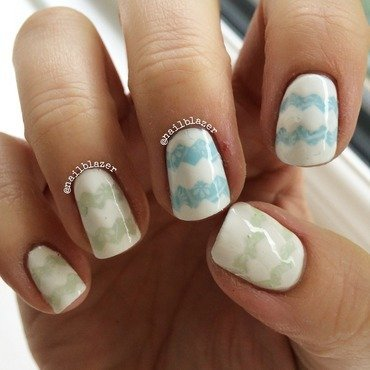 Spring Chevrons nail art by Nailblazer