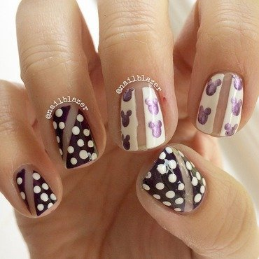 Negative Dotticure nail art by Nailblazer