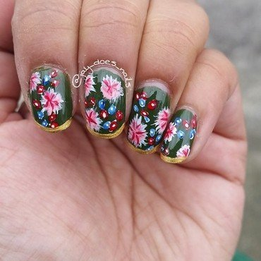 Sabyasachi Saree nail art by Jaya Kerai