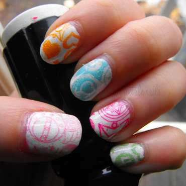 Sailor Moon Stamped nail art by faerietalenails