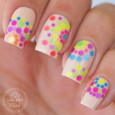 Neon Sequins nail art by xNailsByMiri