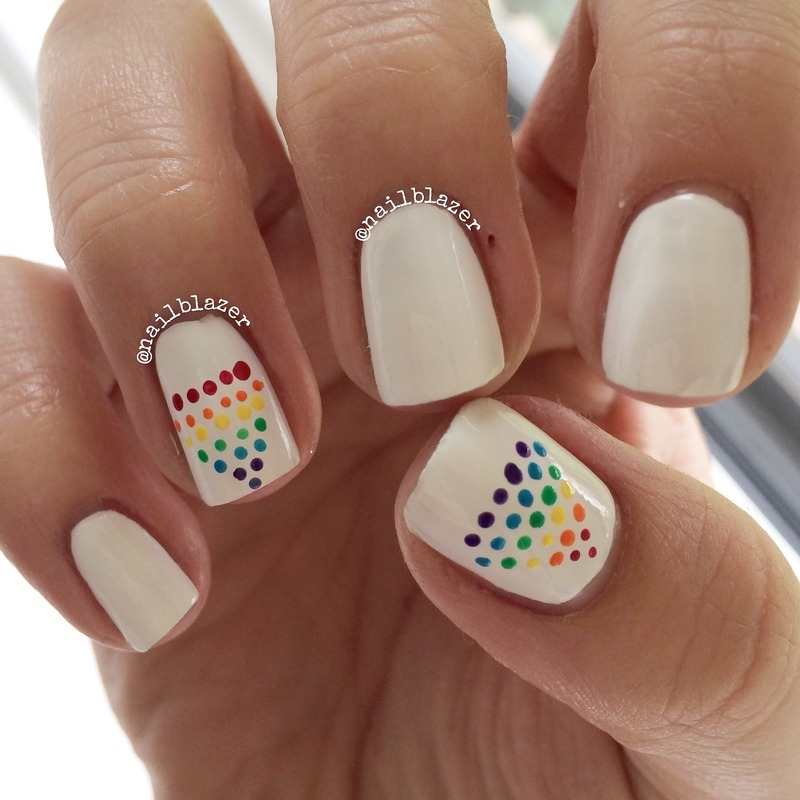 Rainbow Diamonds nail art by Nailblazer