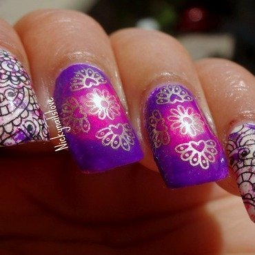 Bollywood Blast nail art by Nicky