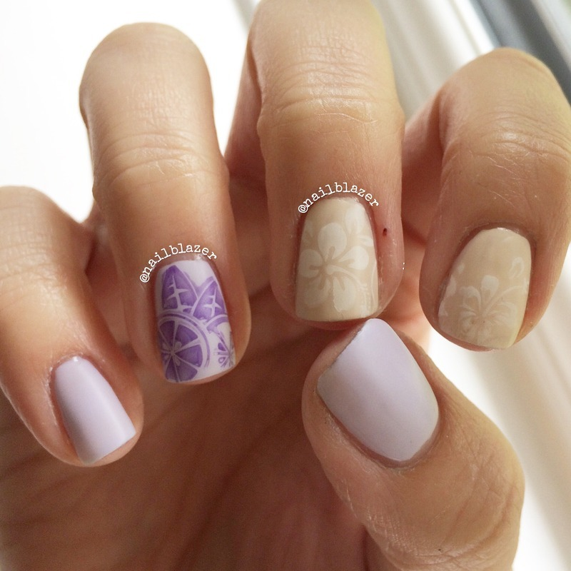 Pastel Fruit nail art by Nailblazer