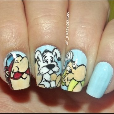 Asterix & Obelix nails nail art by Mycrazydesigns