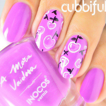 Pop Art Cherry Nails nail art by Cubbiful