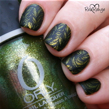 Matte leafs nail art by RedRouge