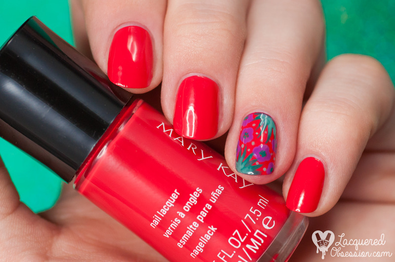 Mary Kay Paradise Calling Tropical Mandarin Swatch by Lacquered Obsession