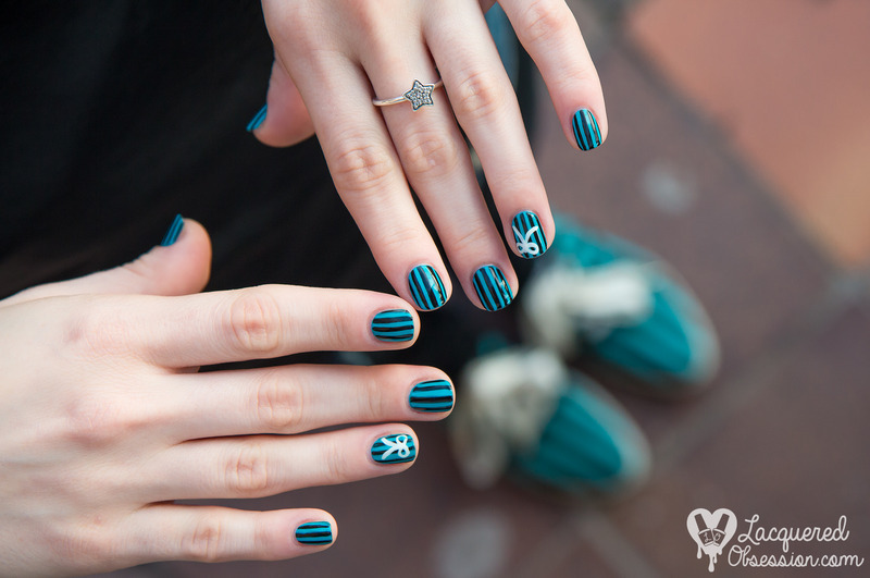 Novesta Popular Green nail art nail art by Lacquered Obsession