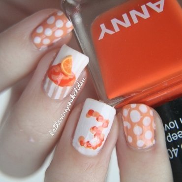 Orange Cupcake nail art by katharinapeskelidou