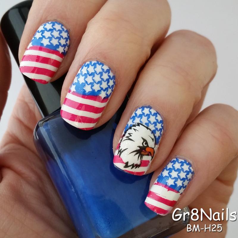 Memorial Day Nails nail art by Gr8Nails - Nailpolis: Museum of Nail Art